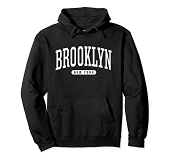 4275b8cd3 Image Unavailable. Image not available for. Color: Brooklyn Hoodie  Sweatshirt College University Style NY ...