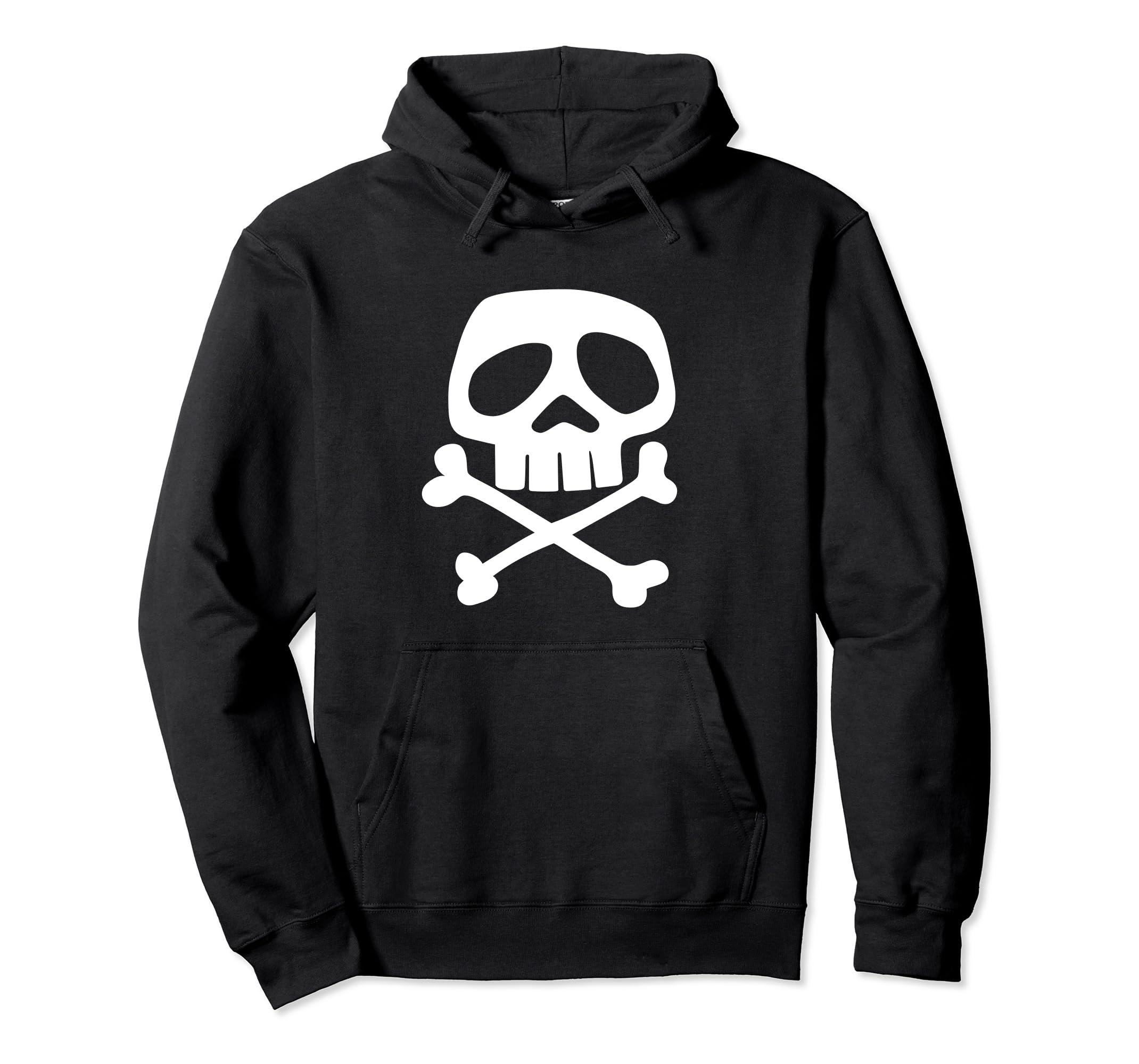 Hoodie Skull and Bones   1980's Punk Rock Misfit-Teechatpro