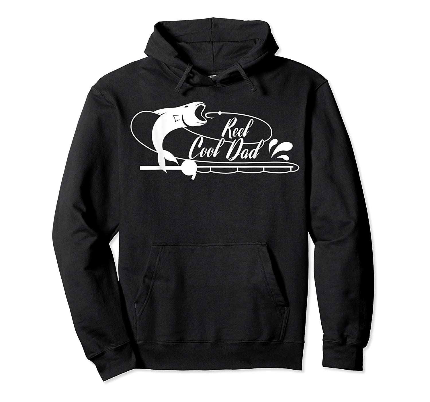 Reel Cool Dad Fishing Daddy Father's Day Gift Shirts Unisex Pullover Hoodie
