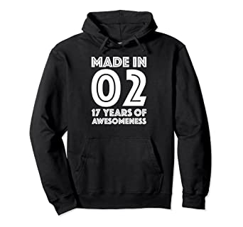Image Unavailable Not Available For Color 17th Birthday Hoodie Boys Gifts Age 17 Year Old