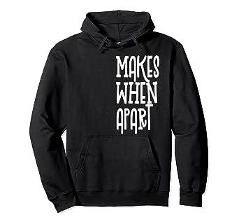 97fc12e62275 Amazon.com  Nothing makes sense when we re apart Hoodie  Clothing