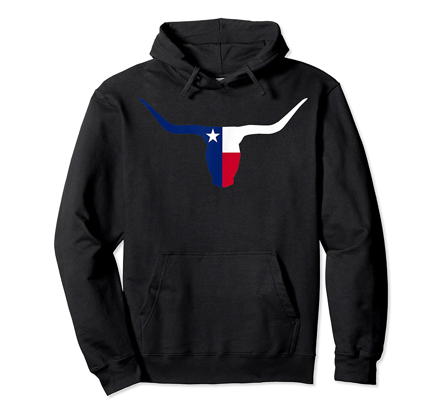 Cool Longhorn Bull Texas Flag Home State Shirts Unisex Pullover Hoodie