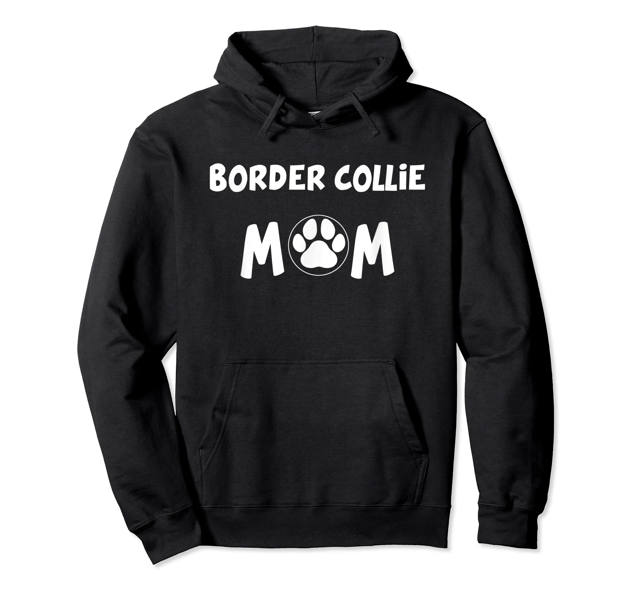 Perfect Dog Mother Gift | Border Collie Mom T-Shirt-Hoodie-Black