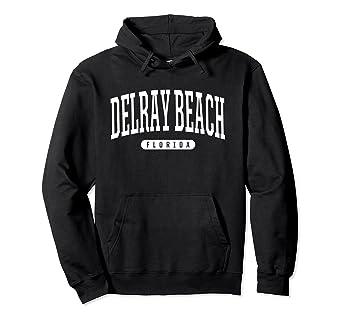 ab12a37c659 Amazon.com: Delray Beach Hoodie Sweatshirt College University Style ...