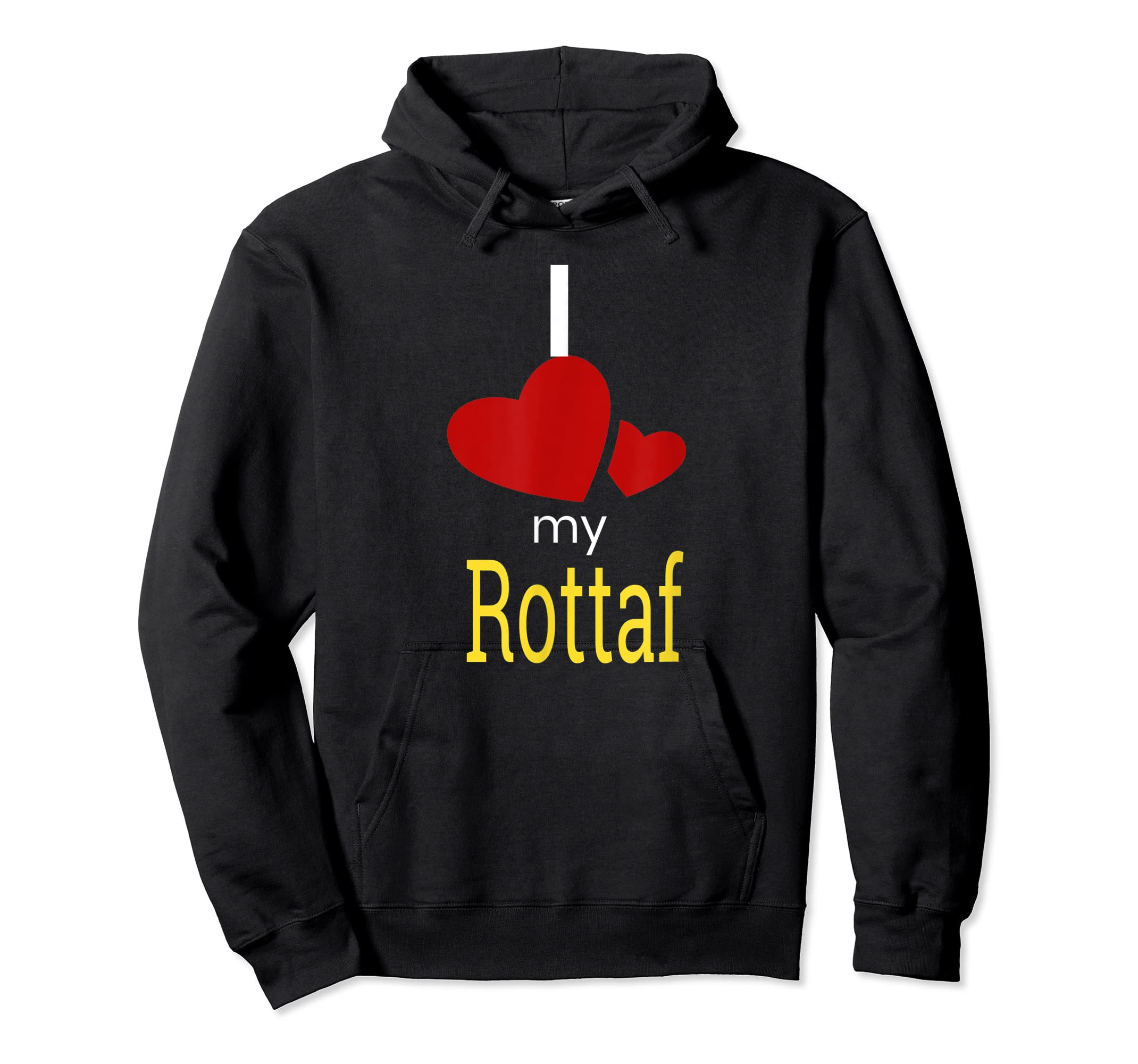 Rottaf Dog Shirt Love Rottweiler + Afghan Hound =  T-Shirt-Hoodie-Black