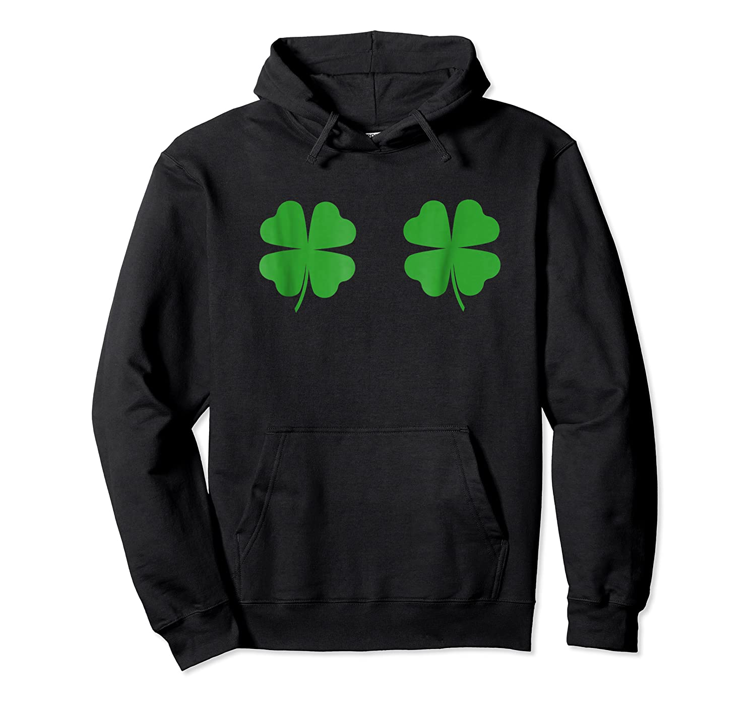 Two Clovers Tshirt Funny St Patrick S Day Boob Shirt Lucky Unisex Pullover Hoodie