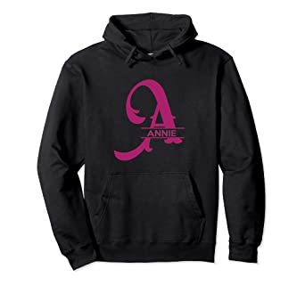 a6fee78037544 Amazon.com: Monogram Initial A Name Annie Hoodie for Girls: Clothing