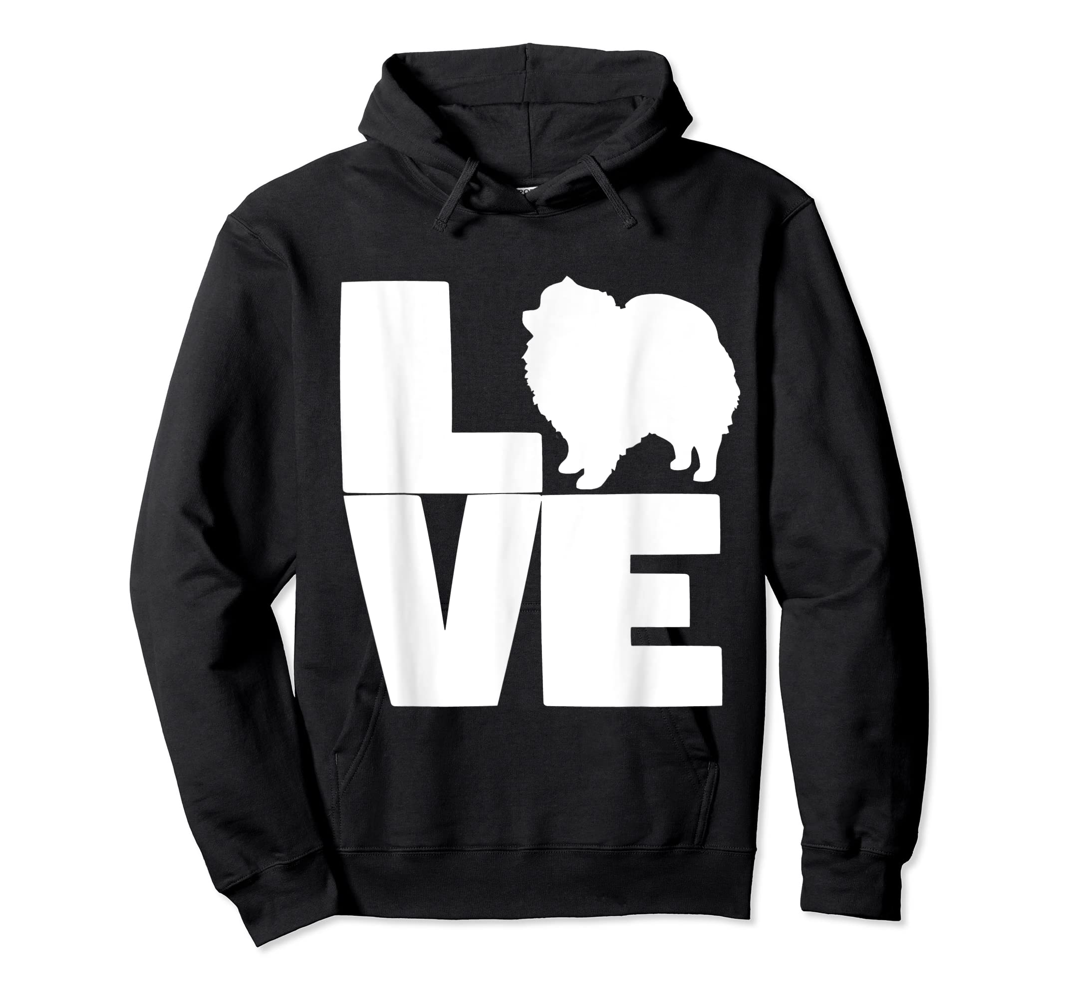 I Love Pomeranians Pom Mom or Dad Pet Lover T Shirt-Hoodie-Black