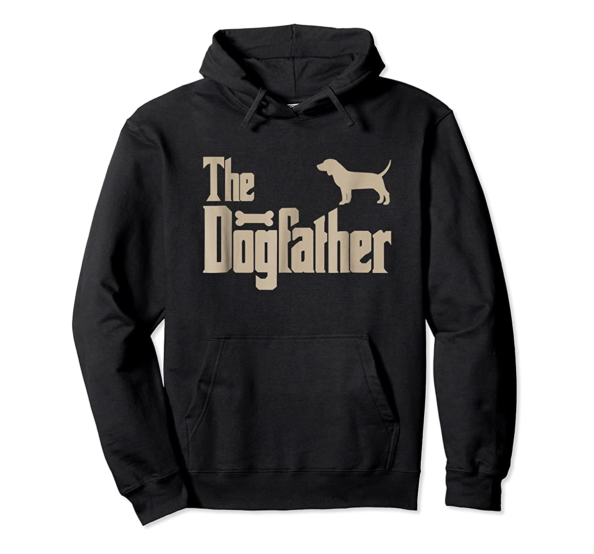 "Mens Beagle Dog Lovers Gifts ""The Dogfather"" Men Tee Shirts-Hoodie-Black"