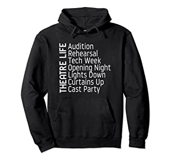 Theatre Hoodie Broadway Gifts Actor Musical Lover Thespian