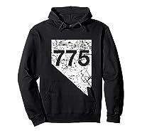 Carson City Reno Sparks Area Code 775 Shirt Nevada Gift Hoodie Black