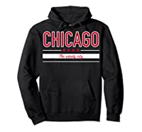 Chicago Flag T Shirt The Windy City Illinois Tee Hoodie Black
