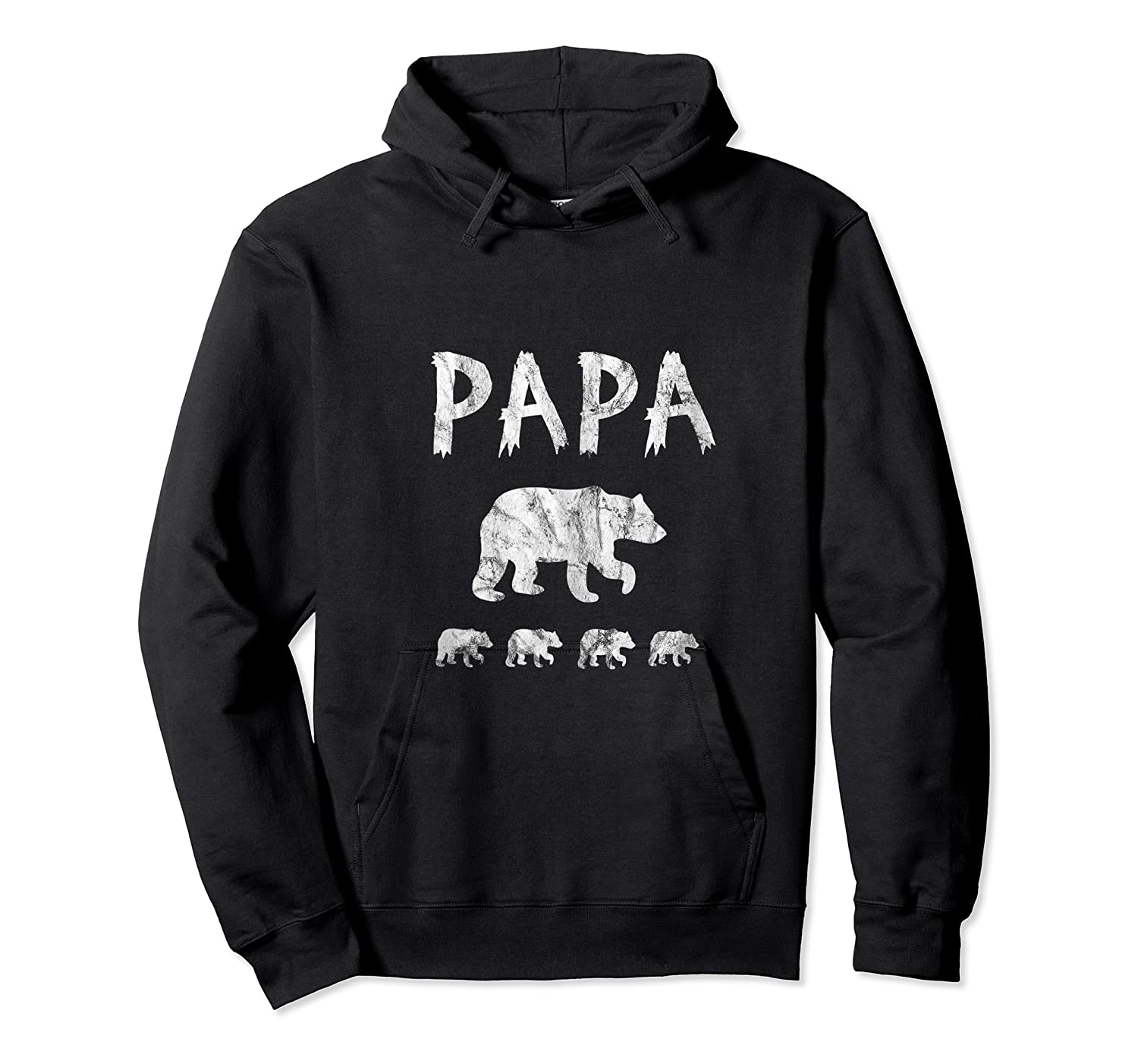 Dad Of 4 Or Quadruplets Papa Bear Shirts Unisex Pullover Hoodie