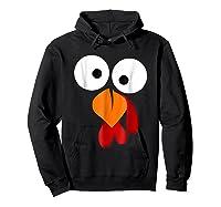 Turkey Face Funny Fun Thanksgiving Day Shirts Hoodie Black