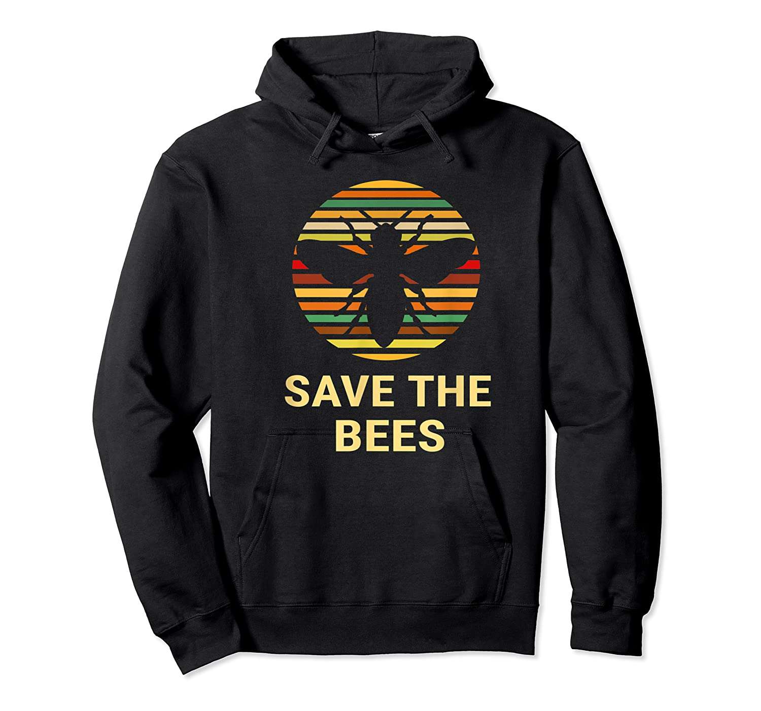 Save The Bees T Shirt Vintage Sunset Bees Gift Shirt Unisex Pullover Hoodie