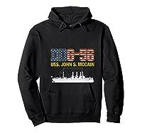 Ddg 56 Uss John S Mccain Shirts Hoodie Black