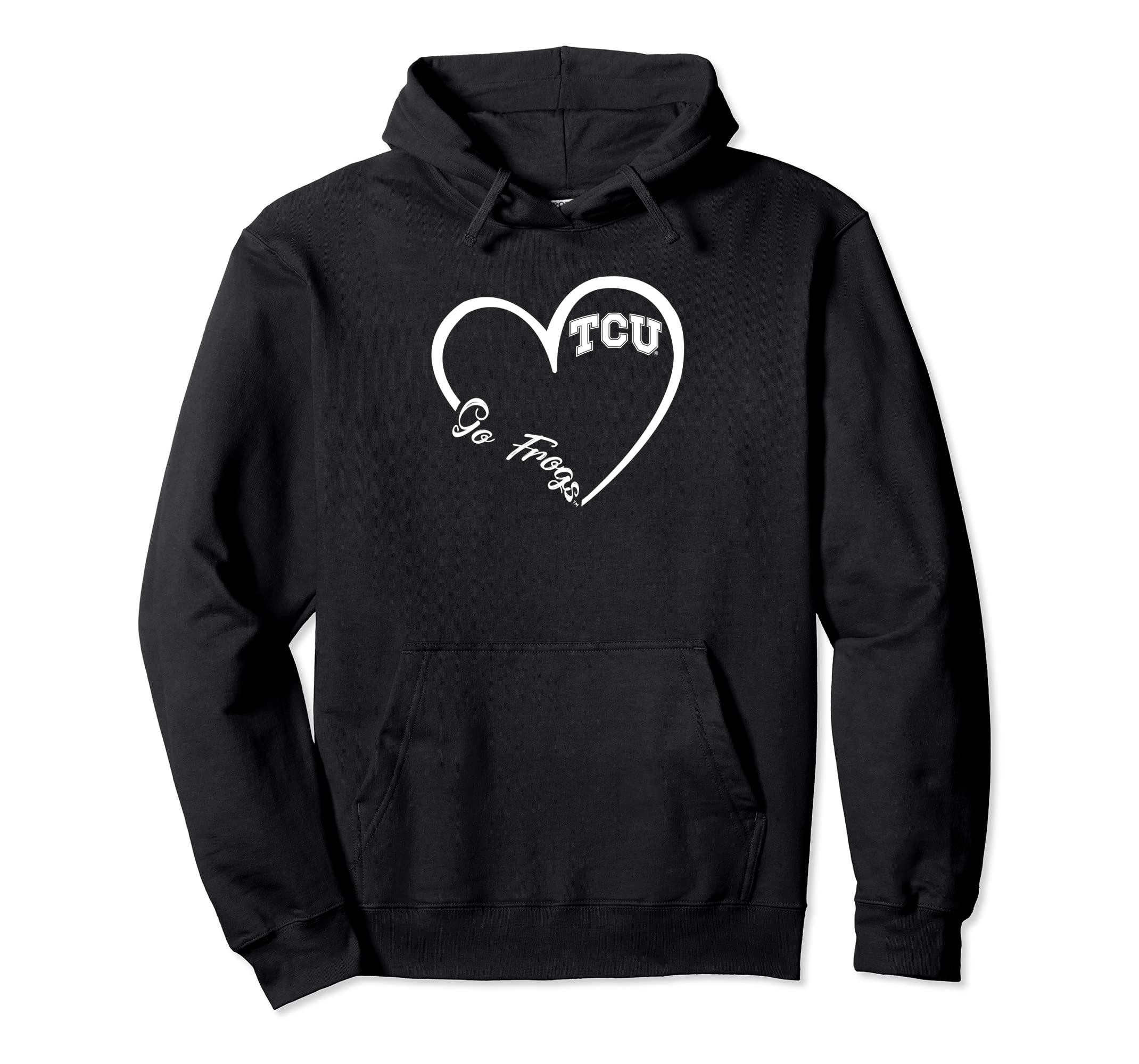 TCU Horned Frogs Heart 3/4 Hoodie - Apparel-SFL
