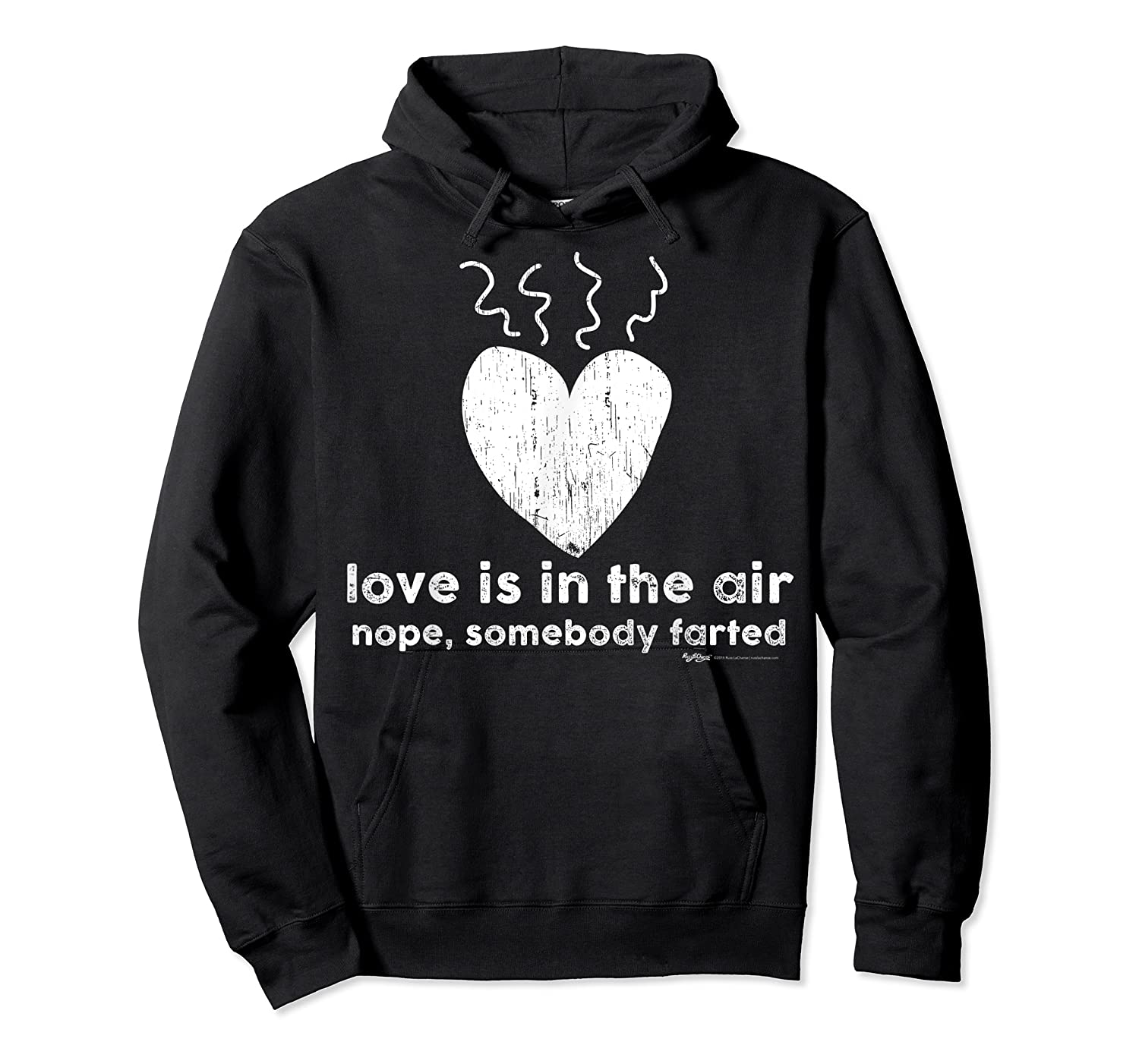 Vintage Love Is In The Air Nope Anti Valentines Day T Shirt Unisex Pullover Hoodie