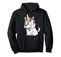 Bichon Frise Unicorn Hat Funny Dog Gift Shirts Hoodie Black