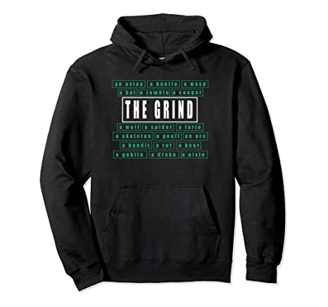 Amazon com: Gamers Classic Game Grinding MMO And RPG Hoodie