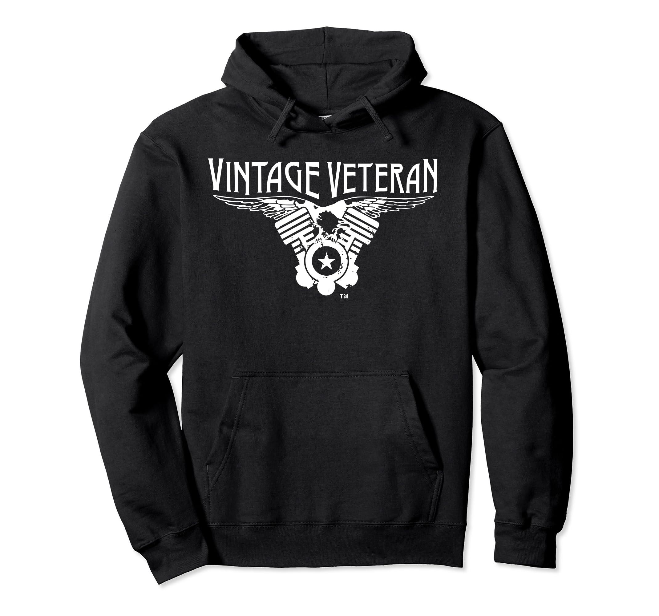 Vintage Veteran Hoodie V-Twin Eagle-Rose