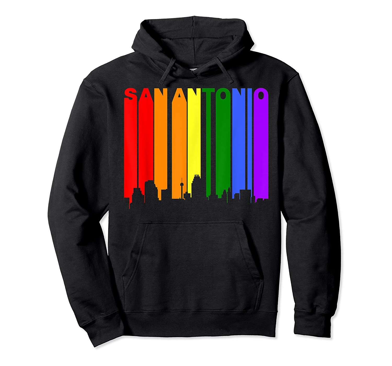 San Antonio Texas Lgbtq Gay Pride Rainbow Skyline T-shirt Unisex Pullover Hoodie