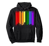 San Antonio Texas Lgbtq Gay Pride Rainbow Skyline T-shirt Hoodie Black