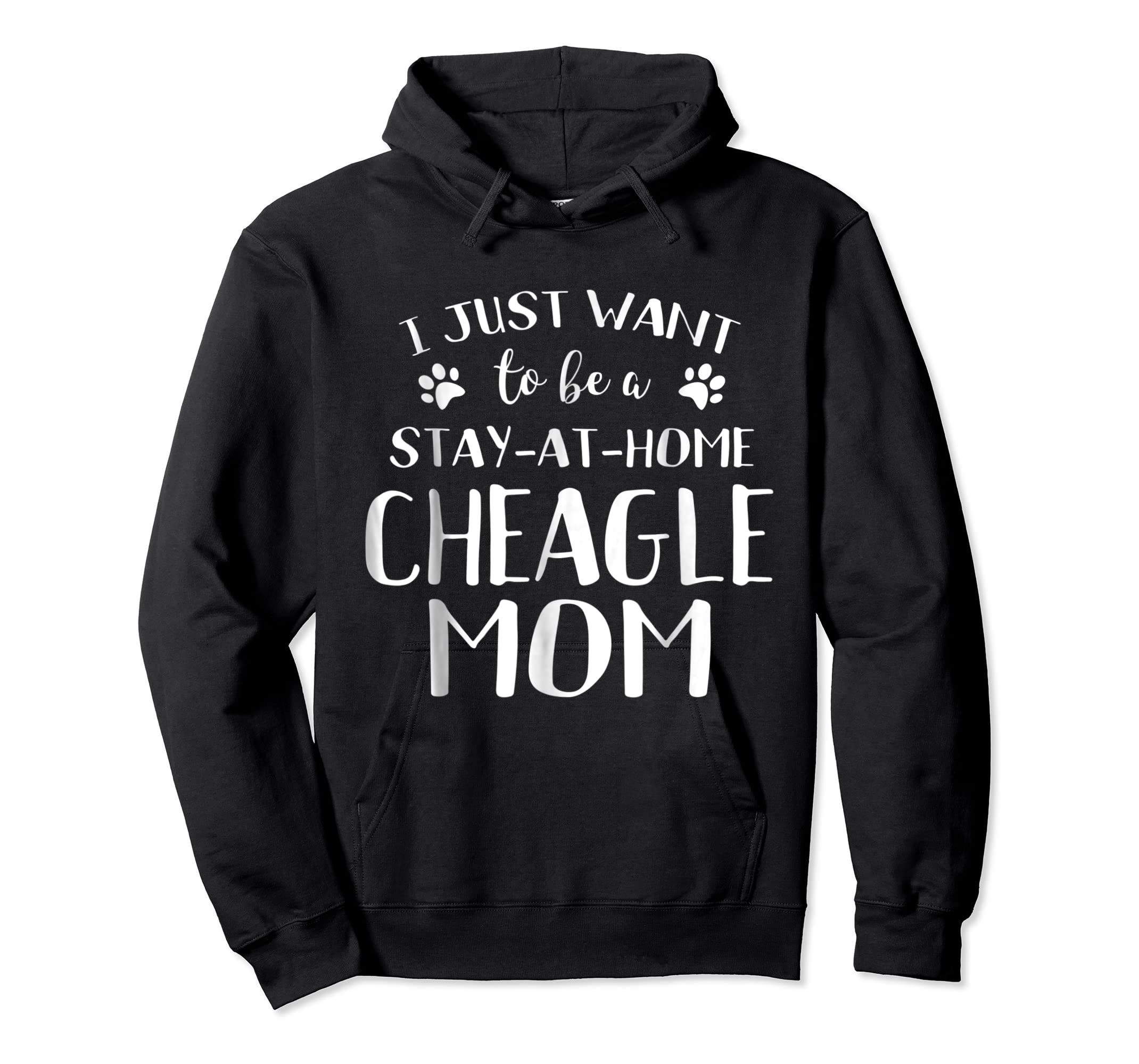 Cheagle Mom TShirt Cheagle Dog Breed Gift Pet Lover-Hoodie-Black
