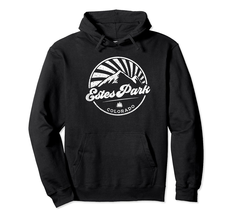 Estes Park Colorado Retro Vintage City Mountains T Shirt Unisex Pullover Hoodie