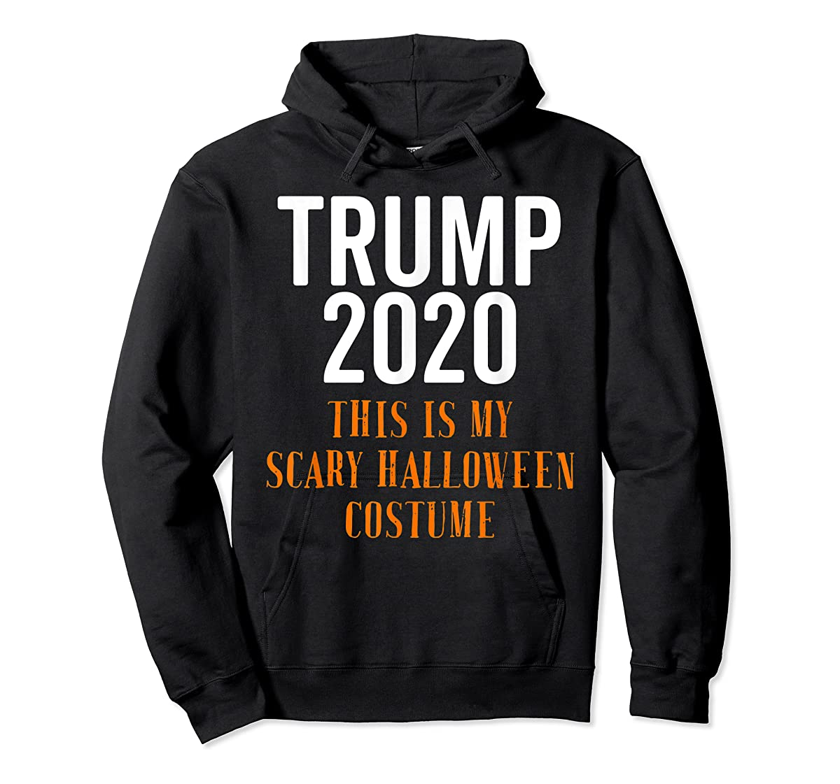 Scary Halloween No More Trump Funny Costume Anti Political T-Shirt-Hoodie-Black