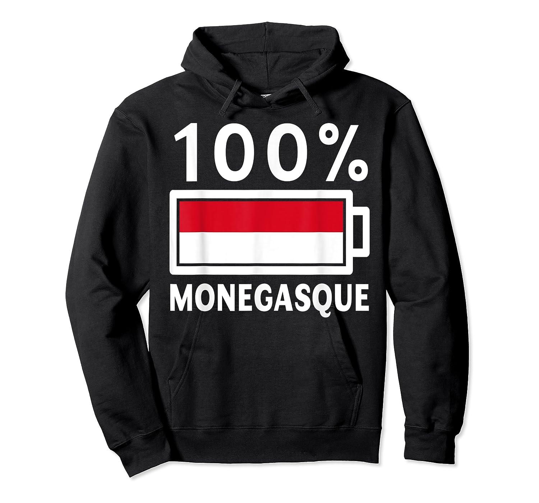 Monaco Flag T Shirt 100 Monegasque Battery Power Tee Unisex Pullover Hoodie