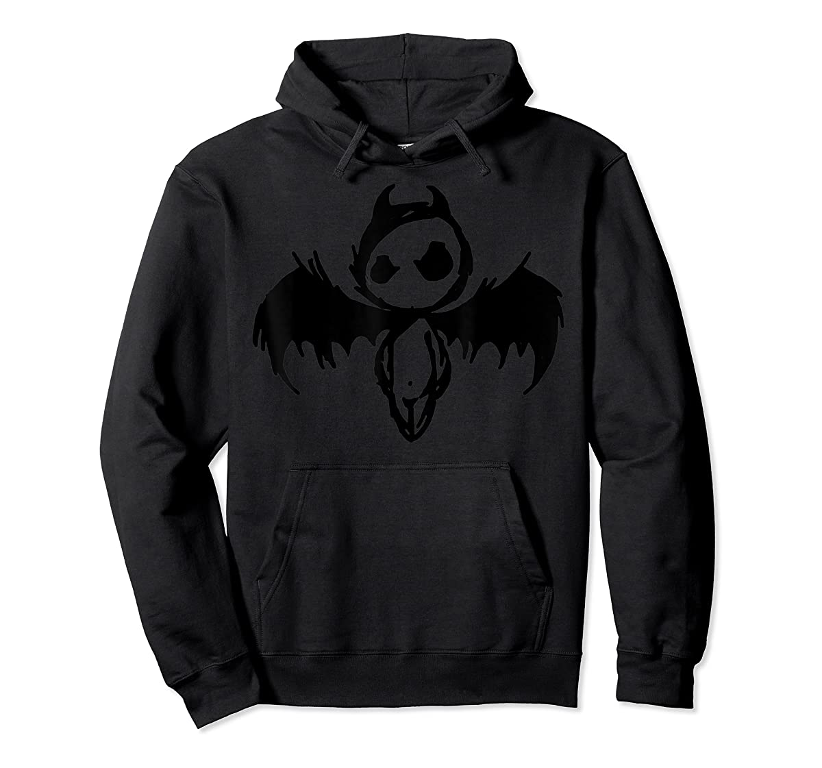 Cute Demon Vintage Couple Matching Halloween Party Costume  T-Shirt-Hoodie-Black