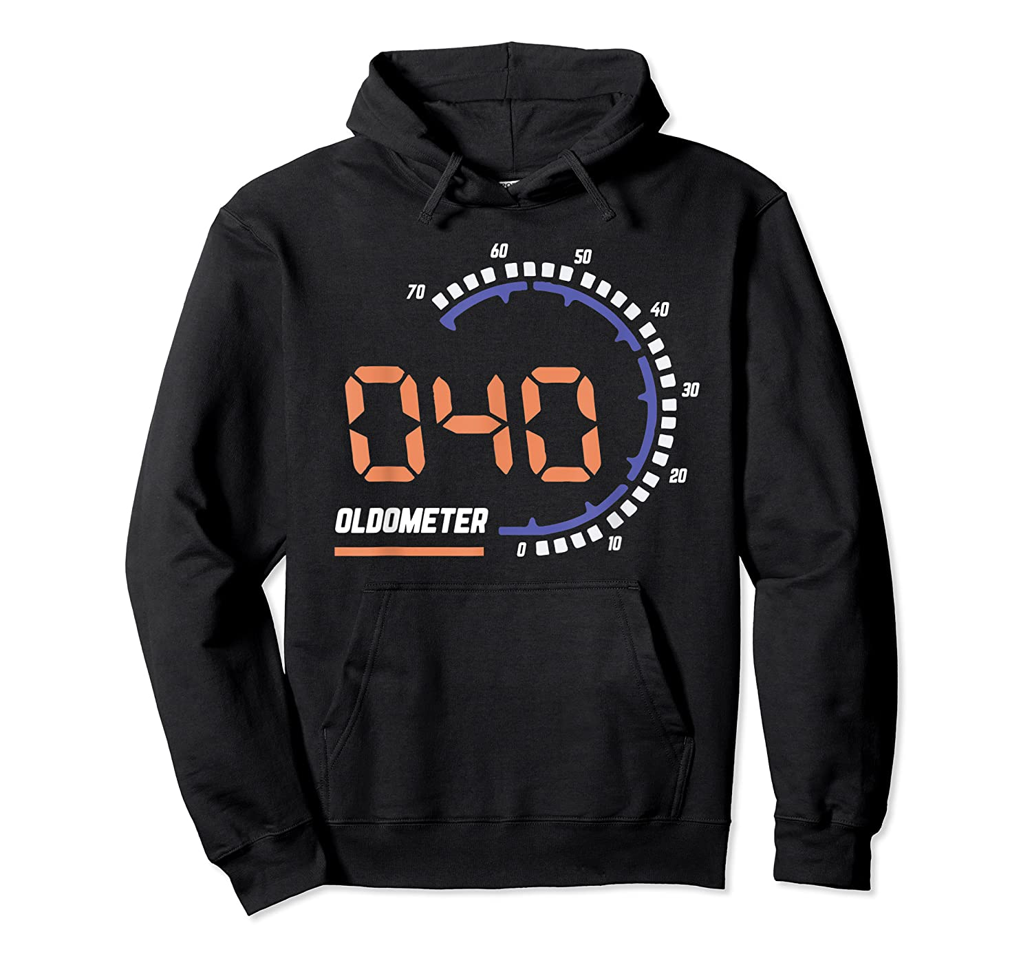 Oldometer 40 T-shirt 40th Birthday Gift Funny T-shirt Unisex Pullover Hoodie