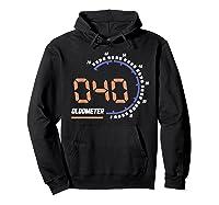 Oldometer 40 T-shirt 40th Birthday Gift Funny T-shirt Hoodie Black