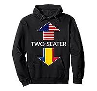 Romanian Two Seater Dad Joke Meme Gift American Flag Shirts Hoodie Black