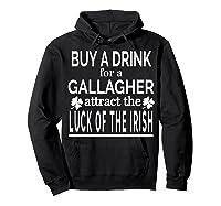 Gallagher Luck Of The Irish Namesake Family Gift T Shirt Hoodie Black