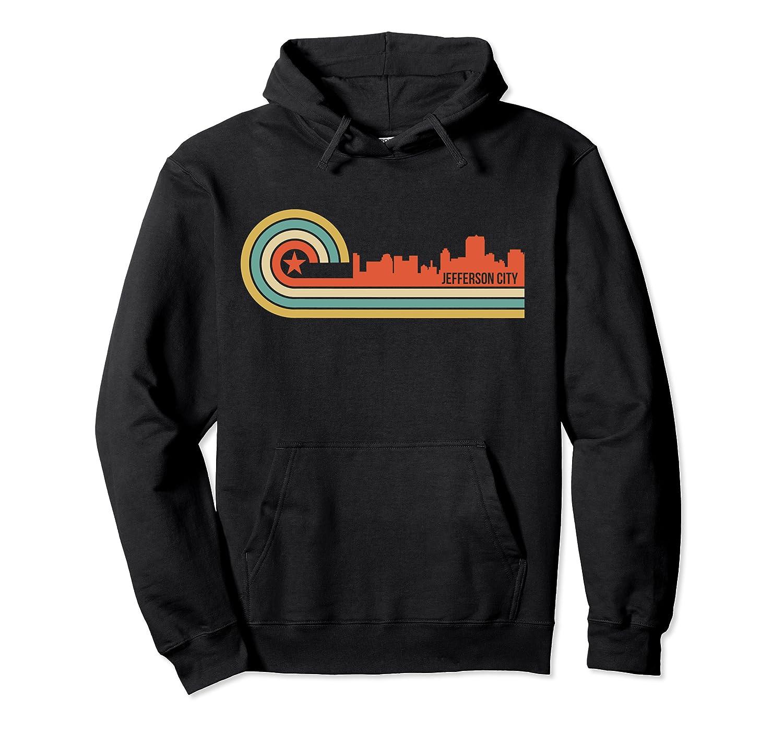 Retro Jefferson City T Shirt Jefferson City Mo Skyline Shirt Unisex Pullover Hoodie