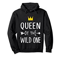 Queen Of The Wild One Thing 1st Birthday Gif Shirts Hoodie Black