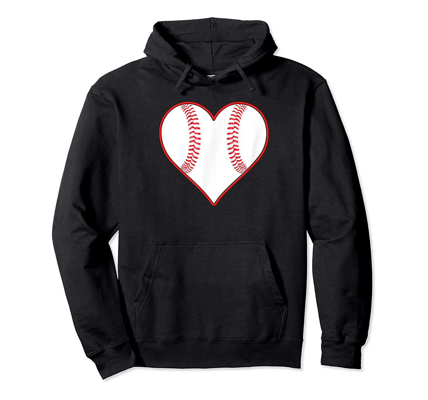 Baseball Player, Coach Or Fan Heart Shaped Baseball Graphic Shirts Unisex Pullover Hoodie