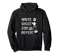 Write Shoot Edit Repeat Movie Filmmaker Gifts Tank Top Shirts Hoodie Black