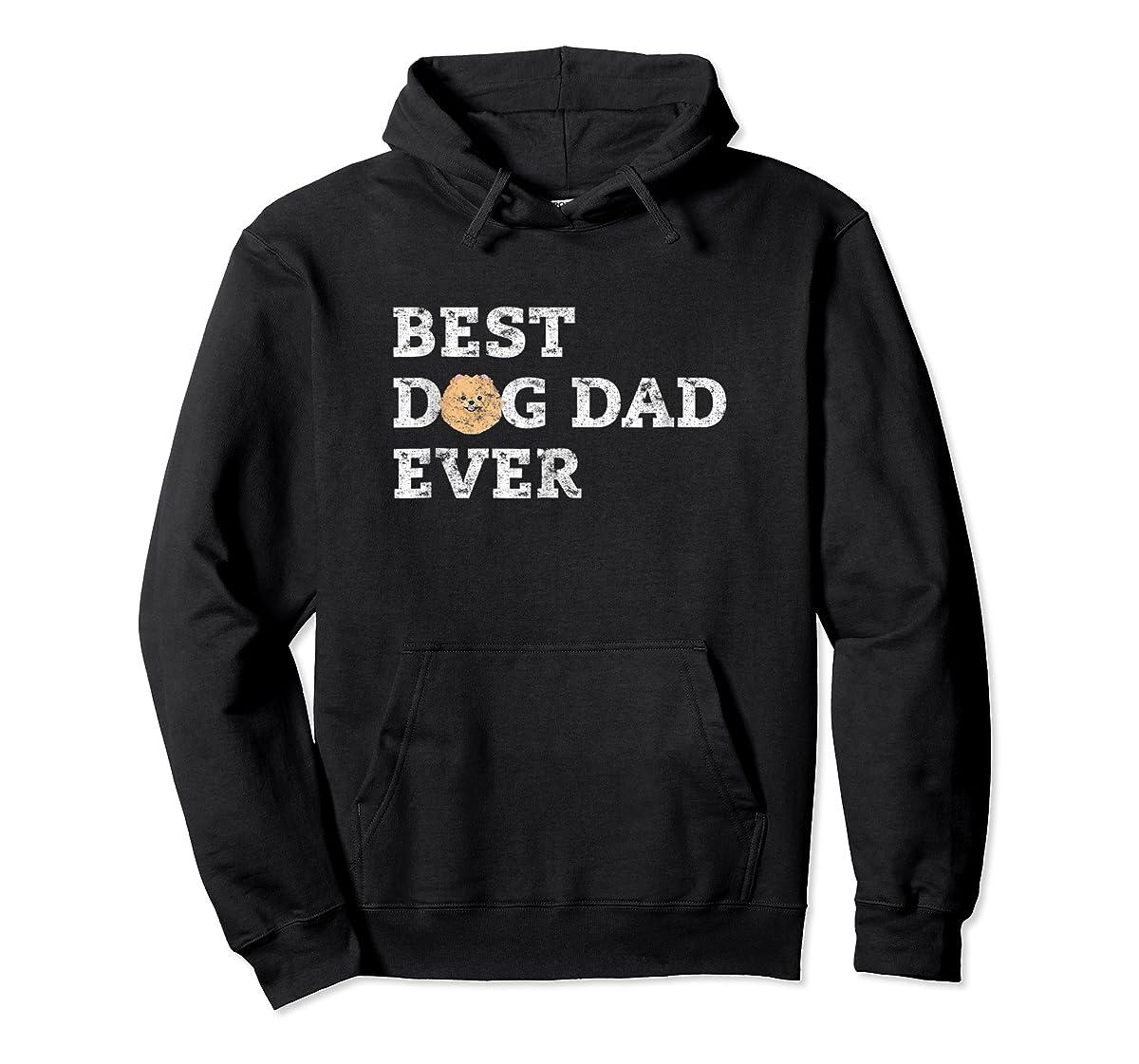 Mens Best Pomeranian Dog Dad Ever T-Shirt-Hoodie-Black