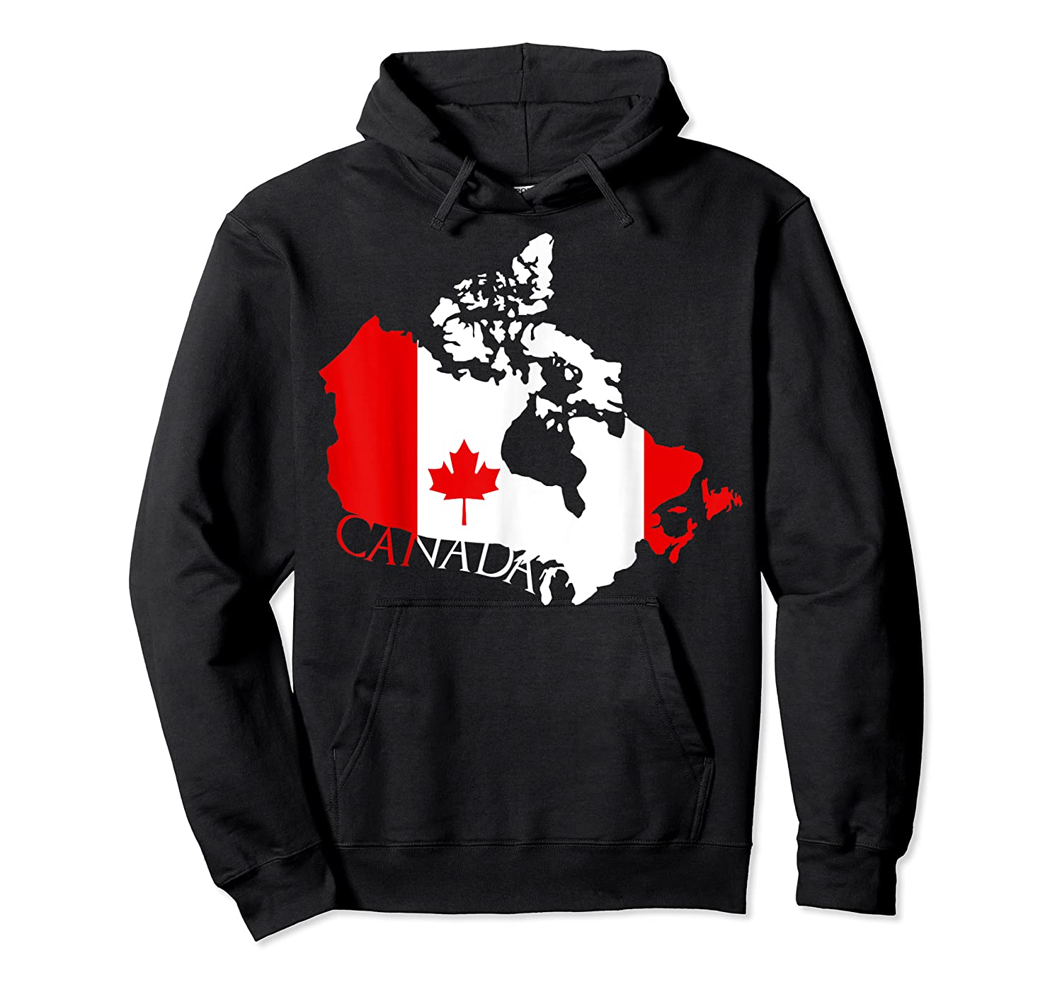 Proud Canada Flag Map T-shirts Maple Leaf Shirt Canada Day T-shirt Unisex Pullover Hoodie