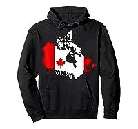 Proud Canada Flag Map T-shirts Maple Leaf Shirt Canada Day T-shirt Hoodie Black