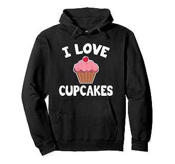 Amazon Com I Love Cupcakes Hoodie Cute Cupcake Hoodie Clothing