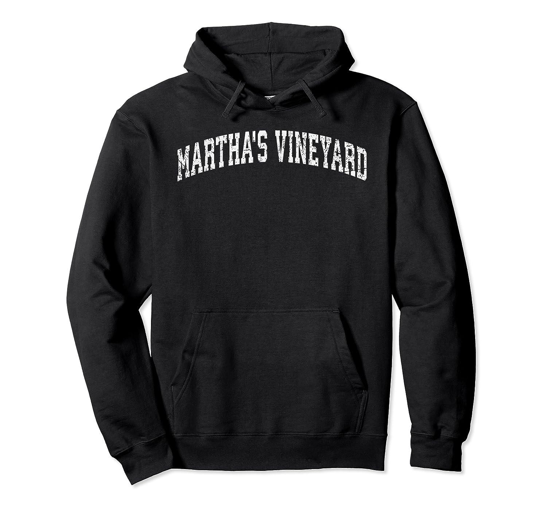 Distressed Martha S Vineyard Shirt Basic Vintage College T Unisex Pullover Hoodie