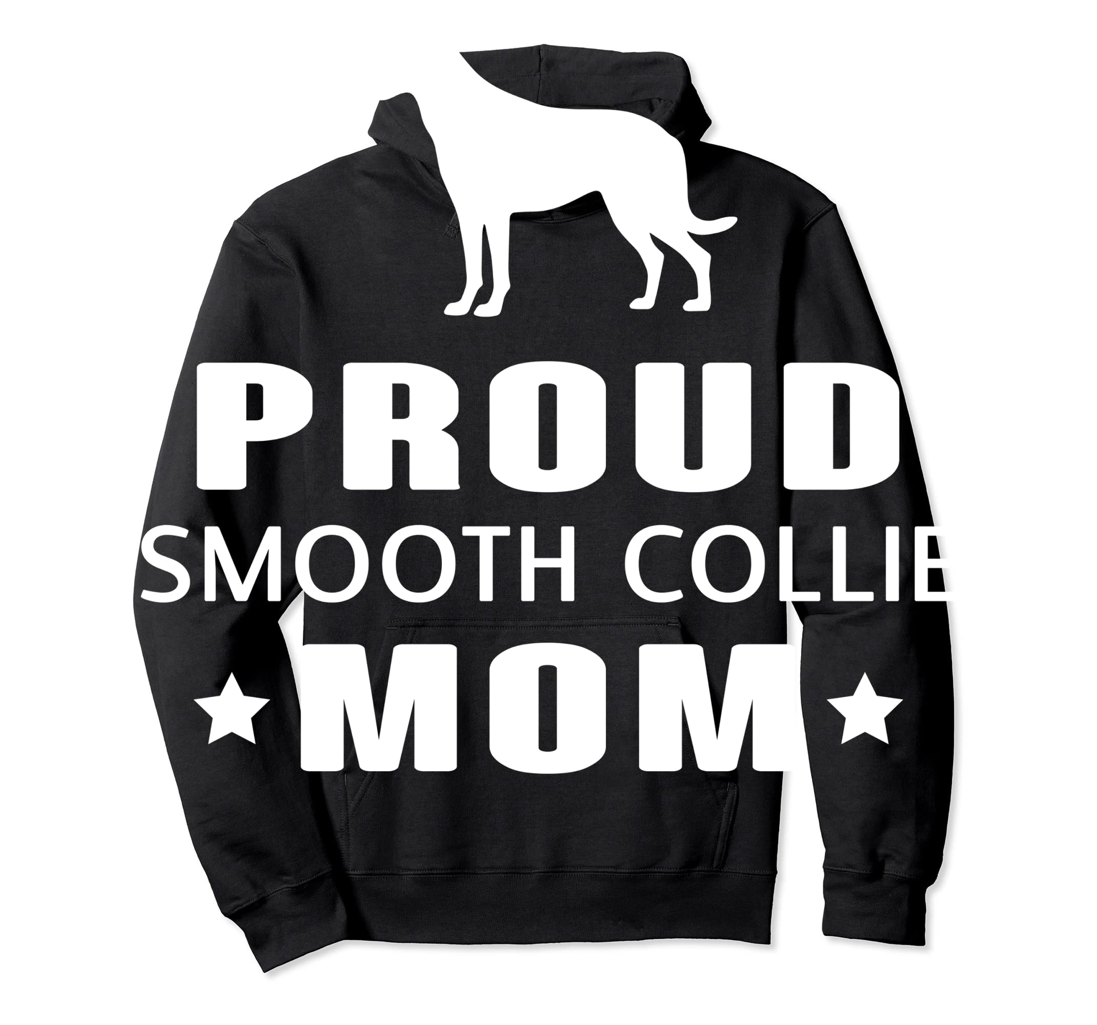 Smooth Collie Funny T-Shirts For Dog Lovers-Hoodie-Black