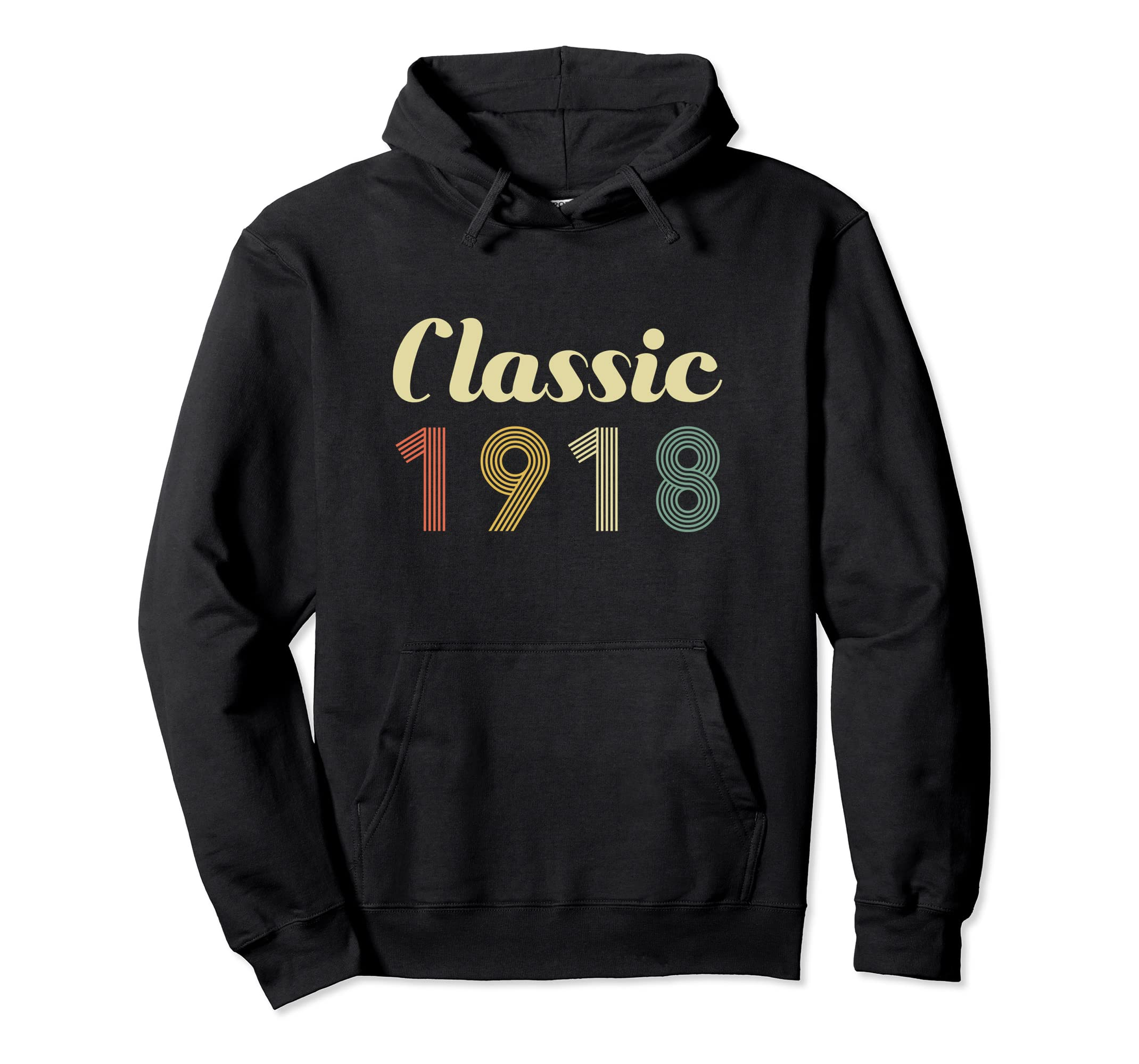 100th Birthday Gift Hoodie Classic Born In 1918 100 Year Old-ln