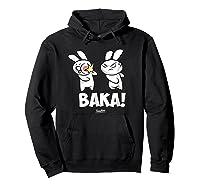 Funny Anime Baka Rabbit Baka Japanese Anime Lover Shirt Hoodie Black
