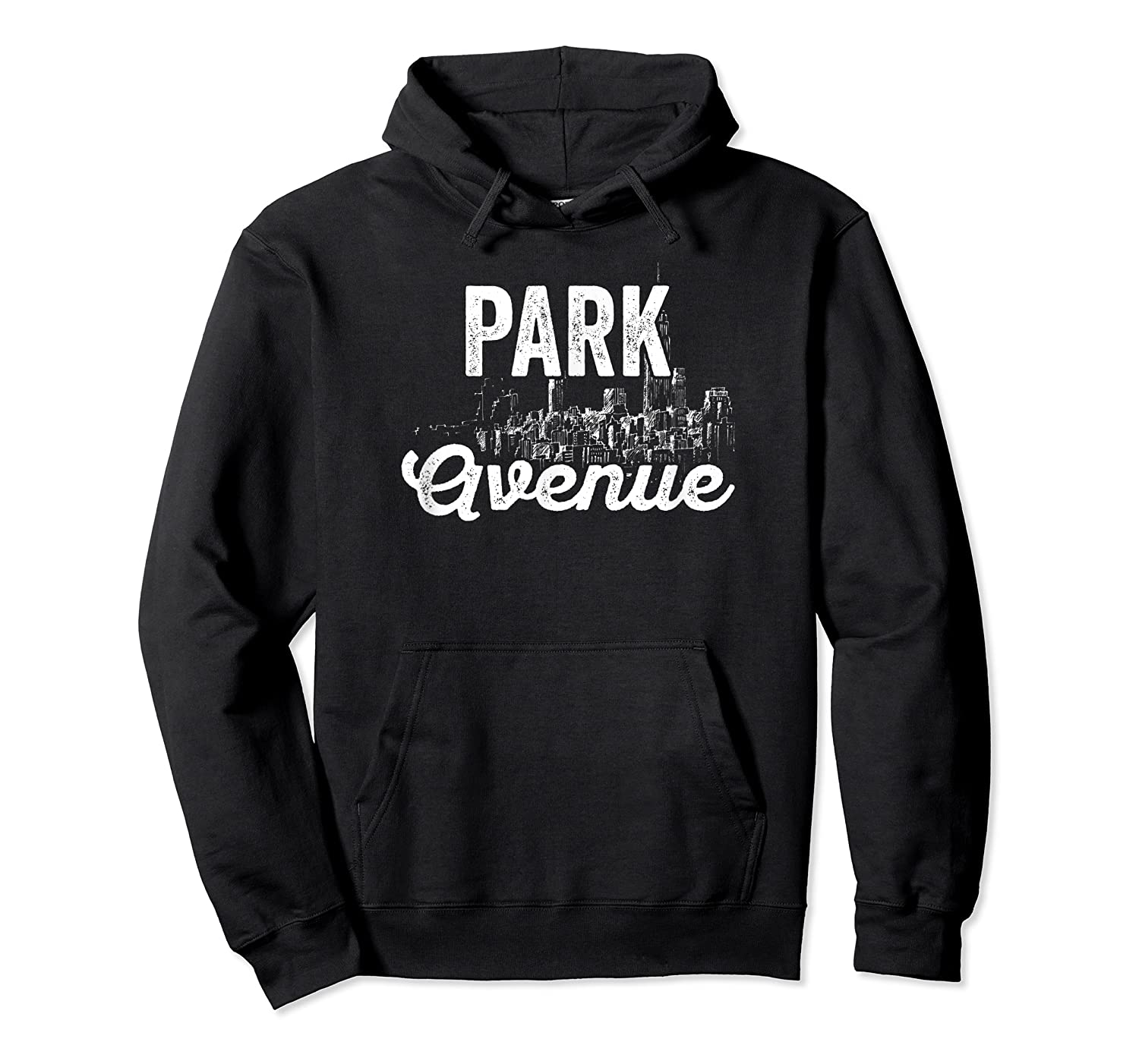 Park Avenue Sign New York City Skyline Shirt For New Yorker Unisex Pullover Hoodie