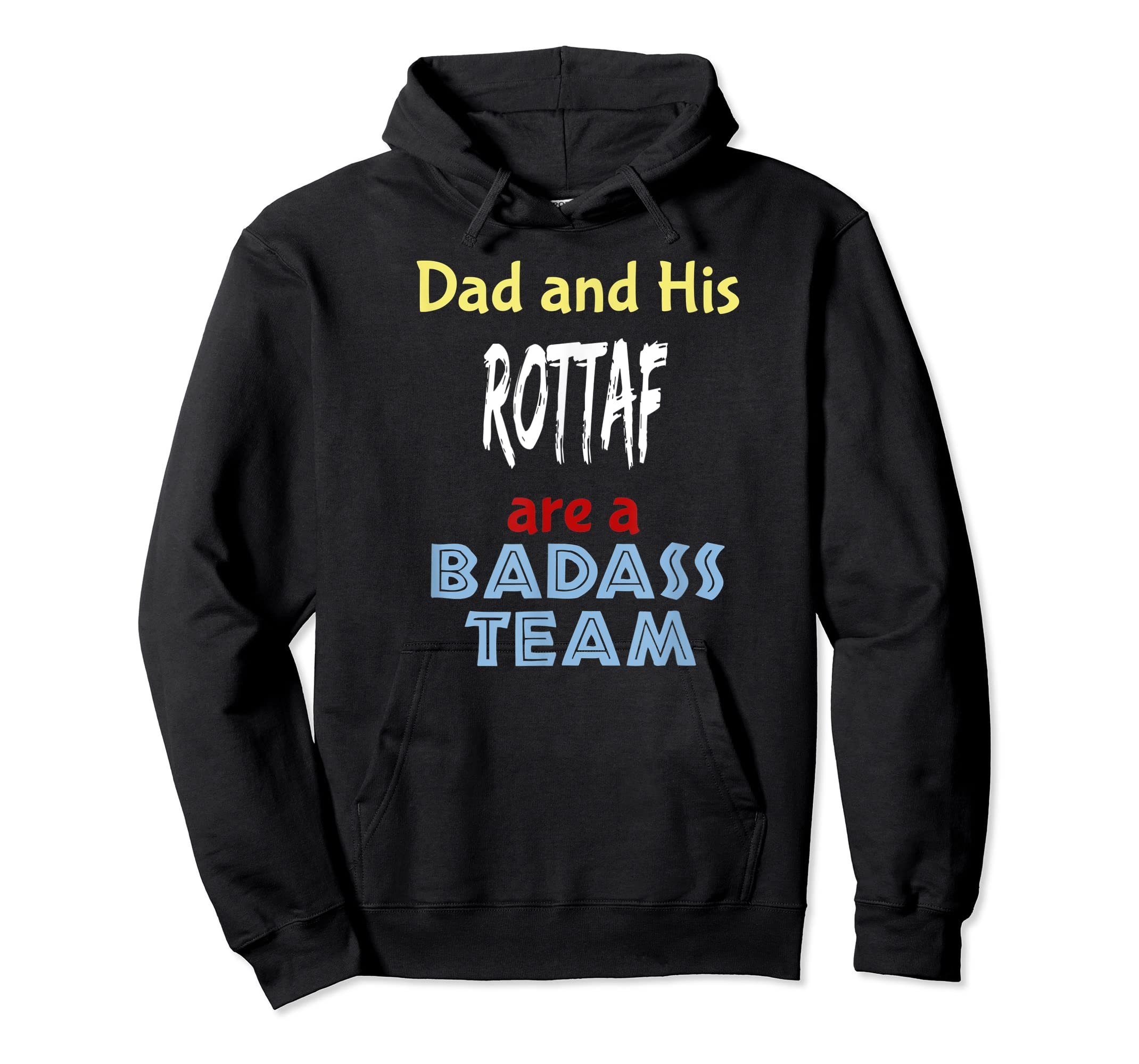 Mens Rottaf Dog Shirt Love Rottweiler + Afghan Hound =  T-Shirt-Hoodie-Black